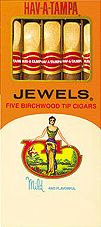 HAV A TAMPA JEWELS BIRCHWOOD TIP 10/5PKS