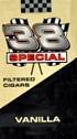 38 Special Filtered Cigars - Vanilla 100