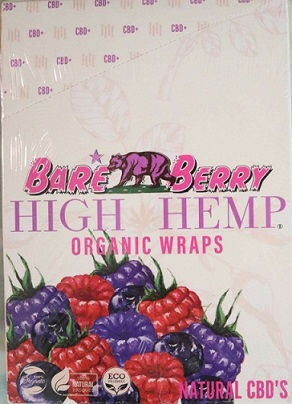 High Hemp CBD Organic wraps- BARE BERRY
