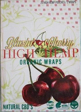 High Hemp CBD Organic wraps- BLAZIN CHERRY