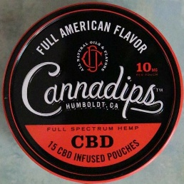 CANNADIPS CBD FULL AMERICAN RED 5 CT ROLL