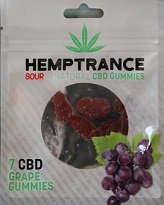 Hemptrance CBD Sour Gummies 50mg - GRAPE
