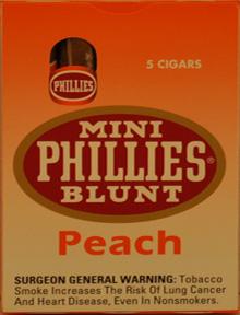 PHILLIES BLUNT MINI PEACH 10/5PKS