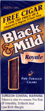 "BLACK & MILD ""ROYALE "" CIGARS 10/5PKS"