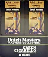 Dutch Master Green Cigarillos - 20 Foil Pouches 2 Cigarillos Per Pouch