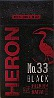 HERON No.33 BLACK 100 BOX