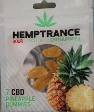 Hemptrance CBD Sour Gummies 50mg - PINEAPPLE