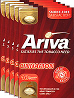 ARIVA DISSOLVABLE TOBACCO PIECES - CINNAMON - 5 PACKS OF 10