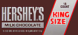 Hershey's Milk Chocolate - King Size 18CT Box