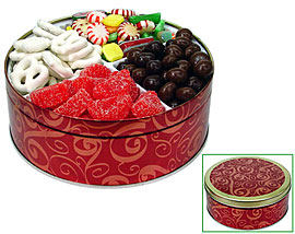 Holiday Mix Candies Tin