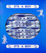 &quot;It's a Boy&quot; Peppermint Sugar Sticks 24ct Box 