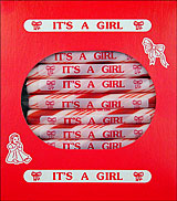 &quot;It's a Girl&quot; Peppermint Sugar Sticks 24ct Box 