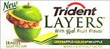 Trident Layers Green Apple/ Golden Pineapple 8/14 pcs