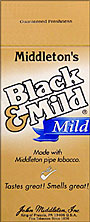 "BLACK & MILD ""MILD"" CIGARS 25 COUNT BOX"