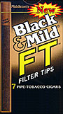 "BLACK & MILD ""FT"" FILTER TIP CIGARS 10/7PKS"