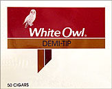 WHITE OWL DEMI-TIP 50CT BOX