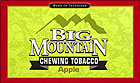 BIG MOUNTAIN APPLE CHEWING TOBACCO 6 - 16OZ POUCHES