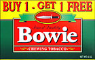 BOWIE CHEWING TOBACCO 12CT BOX-PROMOTIONAL CARTON