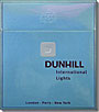 DUNHILL INTERNATIONAL LIGHTS 100 BOX