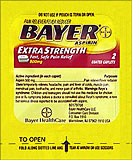 Bayer Extra Strength 12 Packets Of 2 Coated Caplets