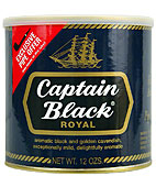 CAPTAIN BLACK ROYAL BLUE PIPE TOBACCO 12 OZ CAN