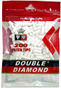 Double Diamond Filter Tips - 200ct Bag