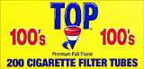 TOP CIGARETTE FILTER TUBES - FULL FLAVOR 100'S- 200CT
