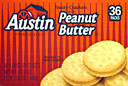 Austin Peanut Butter Crackers 36CT 