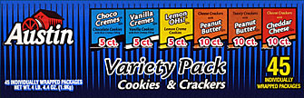 Austin Variety Pack Cookies &amp; Crackers 45CT 