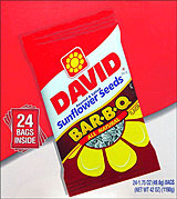 DAVID BAR-B-Q SUNFLOWER SEEDS 24/1.75oz PACKS