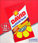 DAVID NACHO CHEESE SUNFLOWER SEEDS 24/1.75oz PACKS