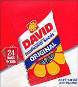 DAVID ORIGINAL SUNFLOWER SEEDS 24/1.75oz PACKS