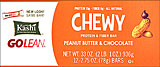 Kashi Go Lean Chewy Protein &amp; Fiber Bar Peanut Butter &amp; Chocolate - 12-2.75oz Bars 