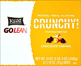 Kashi Go Lean Crunchy Protein &amp; Fiber Bar Chocolate Caramel - 12-1.59oz Bars 