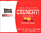 Kashi Go Lean Crunchy Protein &amp; Fiber Bar Chocolate Peanut - 12-1.76oz Bars 