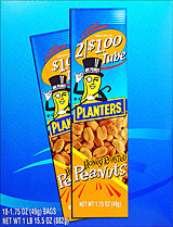 PLANTERS HONEY ROASTED PEANUTS 18/1.75OZ TUBES