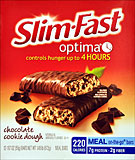 Slim Fast Optima Chocolate Cookie Dough 12/1.97oz Packages 