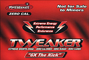 Tweaker  - Pomegrante - 6X The Kick 12/2FL oz Bottles