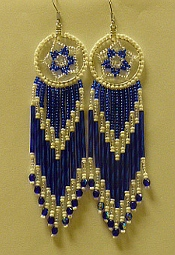 Royal Blue Dream Catcher Earings