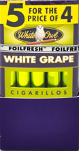White Owl Cigarillo White Grape Foil 5 For the Price of 4