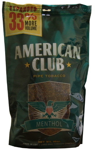 American Club Menthol Pipe Tobacco 16oz Bag