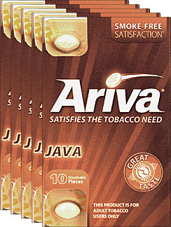 ARIVA DISSOLVABLE TOBACCO PIECES - JAVA - 5 PACKS OF 10 