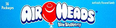 Air Heads Blue Raspberry 36ct.