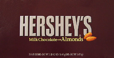 Hershey's Milk Chocolate with Almonds 36CT