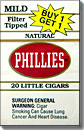 PHILLIES NATURAL LITTLE CIGARS- FILTER TIPPED-PROMOTIONAL CARTON