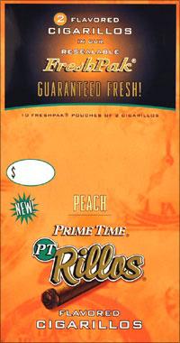 Prime Time Rillos Peach Cigarillos 10/2pk