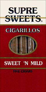SUPRE SWEETS CIGARILLOS - SWEET 'N MILD - 5CT.