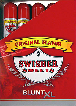 SWISHER SWEETS BLUNT XL - ORIGINAL - 25 TUBED CIGARS