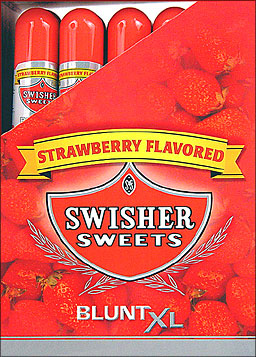 SWISHER SWEETS BLUNT XL - STRAWBERRY - 25 TUBED CIGARS