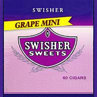 SWISHER SWEETS MINI CIGARILLOS - GRAPE 60CT BOX